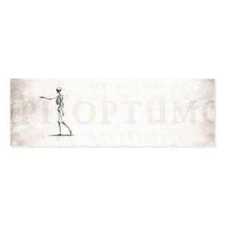 Esqueletos antiguos esqueléticos de la anatomía de tarjetas de visita mini