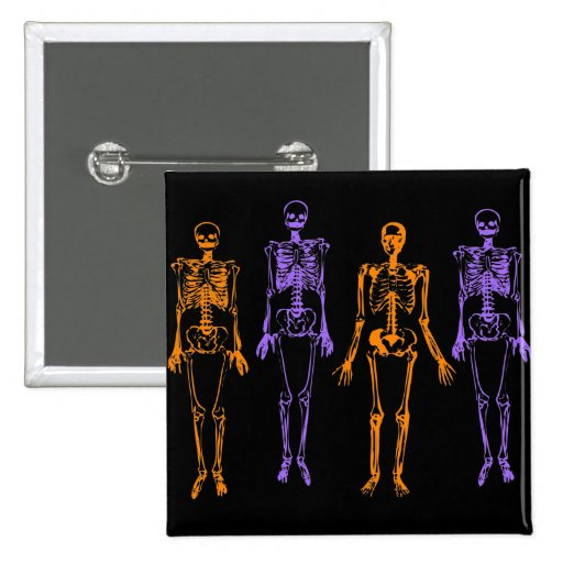 Esqueletos de Halloween Pins