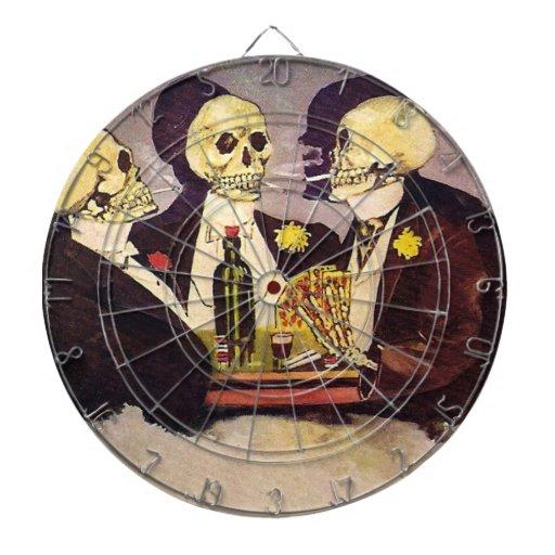 Esqueletos de juego tablero de dardos