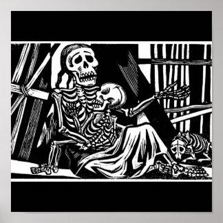 """""""Esqueletos de la madre y del niño"""" por Leopoldo M Póster"""