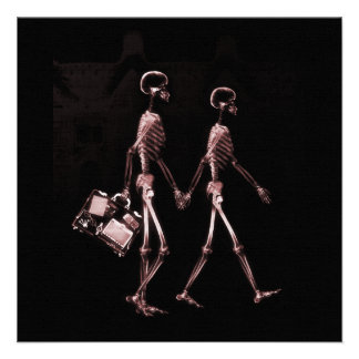 Esqueletos de la radiografía de los pares que viaj comunicado personal