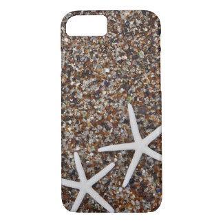 Esqueletos de las estrellas de mar en la playa de funda iPhone 7