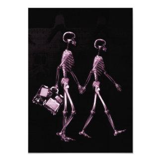 """Esqueletos de Vision de la radiografía de los Invitación 4.5"""" X 6.25"""""""