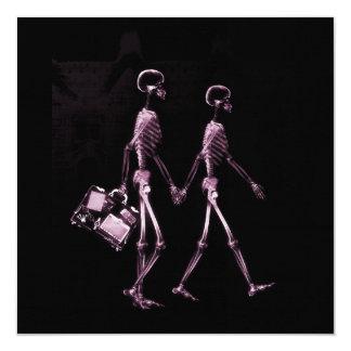 """Esqueletos de Vision de la radiografía de los Invitación 5.25"""" X 5.25"""""""