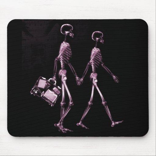 Esqueletos de Vision de la radiografía de los pare Alfombrillas De Raton