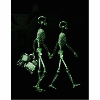 Esqueletos de Vision de la radiografía de los pare Escultura Fotográfica
