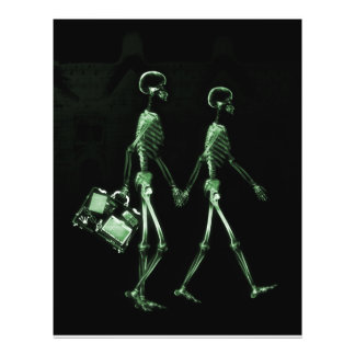 Esqueletos de Vision de la radiografía de los pare Tarjetón