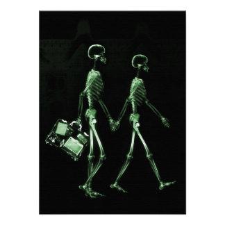 Esqueletos de Vision de la radiografía de los pare Invitaciones Personales