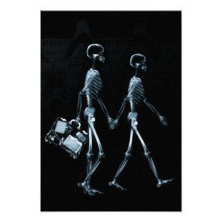 Esqueletos de Vision de la radiografía de los pare Comunicado Personalizado