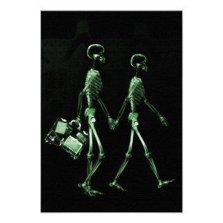 Esqueletos de Vision de la radiografía de los pare Invitación Personalizada
