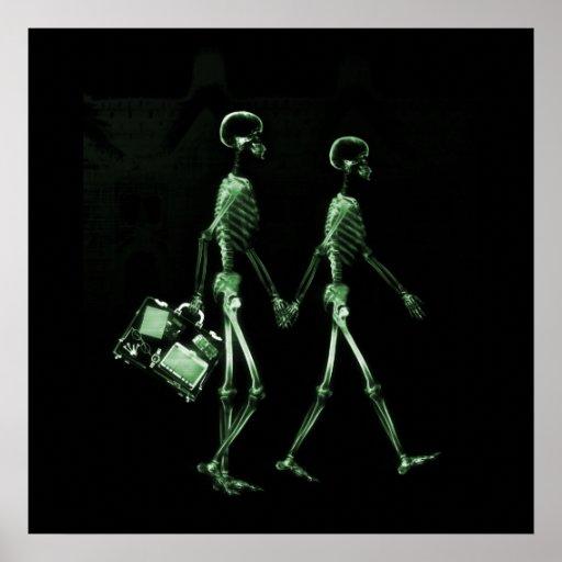 Esqueletos de Vision de la radiografía de los pare Póster