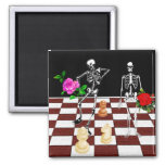 Esqueletos del ajedrez iman