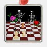 Esqueletos del ajedrez ornato