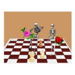 Esqueletos del ajedrez tarjetas postales