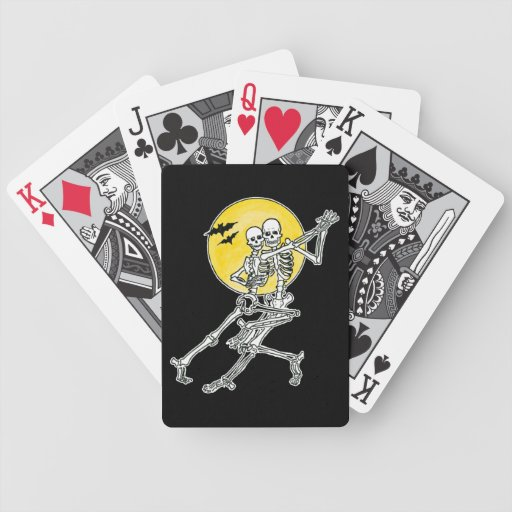 Esqueletos del baile baraja cartas de poker