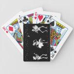 Esqueletos del baile barajas de cartas