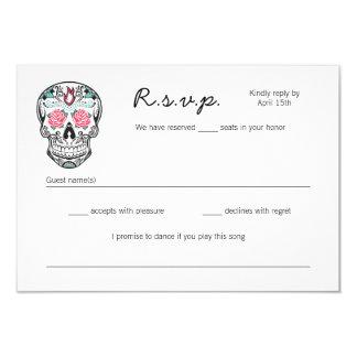 """Esqueletos del baile del cráneo del azúcar que invitación 3.5"""" x 5"""""""