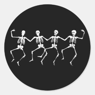 Esqueletos del baile II Pegatina Redonda