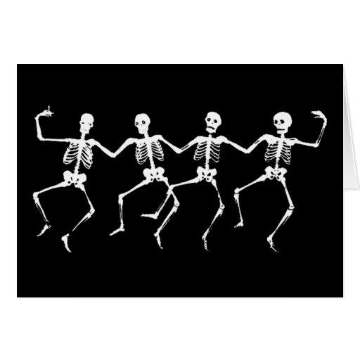 Esqueletos del baile II Tarjeta De Felicitación