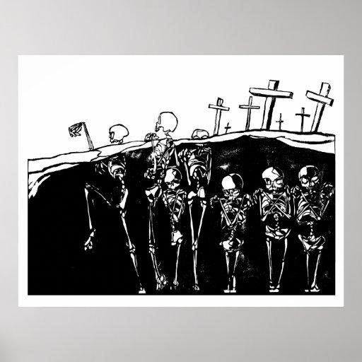 Esqueletos del baile impresiones