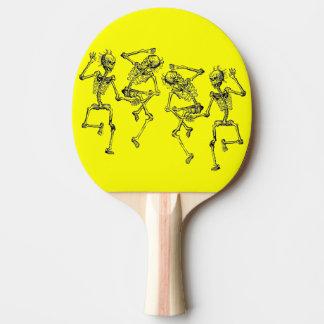 Esqueletos del baile pala de tenis de mesa
