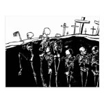 Esqueletos del baile postal