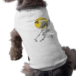 Esqueletos del baile camiseta de perro