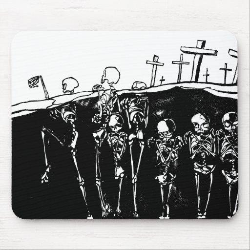 Esqueletos del baile tapete de ratón