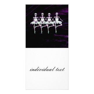 Esqueletos del baile tarjeta personal con foto