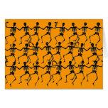 Esqueletos del baile tarjetas