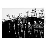 Esqueletos del baile tarjeton