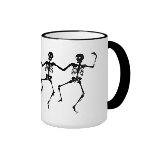 Esqueletos del baile taza