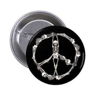Esqueletos del signo de la paz pin