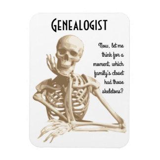 Esqueletos en el armario - genealogía imán de vinilo