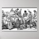 Esqueletos en las bicis, México Póster