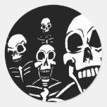 Esqueletos Etiquetas Redondas