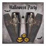 Esqueletos felices en el fiesta de Halloween de Invitación 13,3 Cm X 13,3cm
