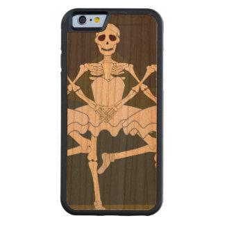 Esqueletos femeninos de baile funda de iPhone 6 bumper cerezo