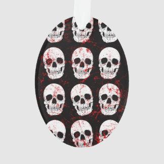 Esqueletos góticos en fondo negro
