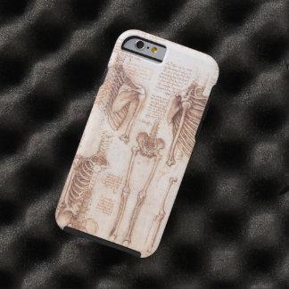 Esqueletos humanos de la anatomía de Leondardo da Funda De iPhone 6 Tough