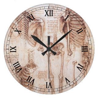 Esqueletos humanos de la anatomía de Leondardo da Relojes