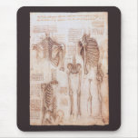 Esqueletos humanos Leonardo da Vinci de los dibujo Tapetes De Ratones