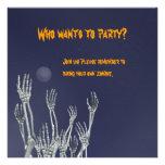 Esqueletos - invitación del fiesta de Halloween