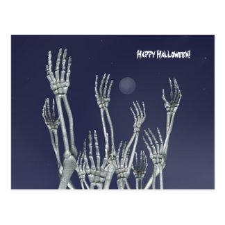 Esqueletos - postal de Halloween