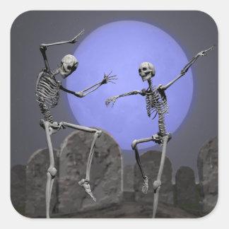esqueletos que bailan a los pegatinas