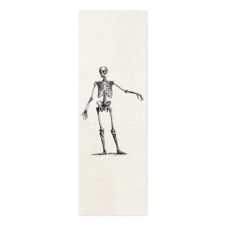 Esqueletos retros esqueléticos de la anatomía de l tarjetas de visita mini