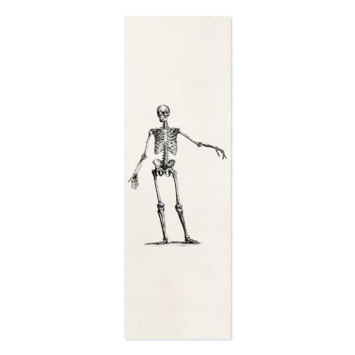Esqueletos retros esqueléticos de la anatomía de l plantilla de tarjeta de visita