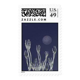 Esqueletos - sellos de Halloween