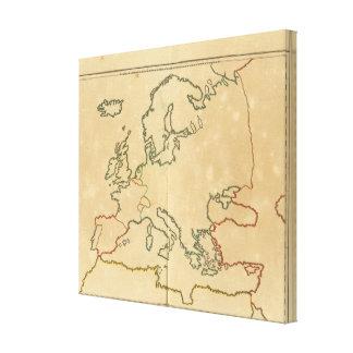 Esquema 2 de Europa Lienzo Envuelto Para Galerias