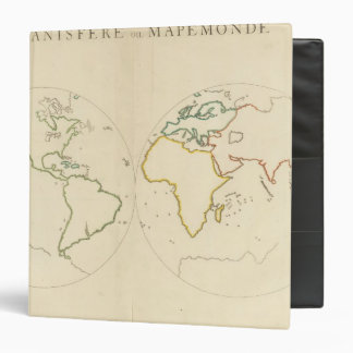 "Esquema 2 del mapa del mundo carpeta 1 1/2"""